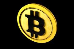 Bitcoin,金黄隔离 免版税库存图片