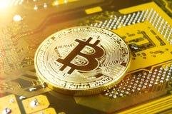 Bitcoin är en modern väg av utbytet och denna crypto valuta Fotografering för Bildbyråer