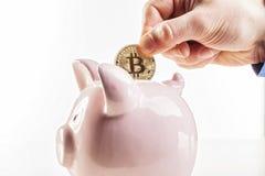 Bitcoin è futuro Fotografia Stock Libera da Diritti