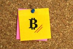 Bitcoin överskrift fotografering för bildbyråer