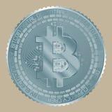 Bitcoin ανοικτό μπλε Στοκ εικόνα με δικαίωμα ελεύθερης χρήσης