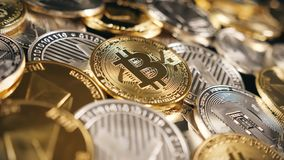 Bitcoin και διάφορα Crypto νομίσματα Στοκ Εικόνα