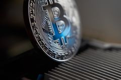 Bitcoin και heatsink Στοκ Εικόνα