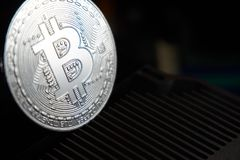 Bitcoin και heatsink Στοκ Φωτογραφίες