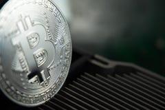 Bitcoin και heatsink Στοκ εικόνα με δικαίωμα ελεύθερης χρήσης