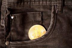 Bitcoin λογότυπων χρυσό σύμβολο bitcoin νομισμάτων τελευταίο Στοκ Φωτογραφία
