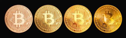 Bitcoin - νόμισμα BTC κομματιών το νέο crypto νόμισμα ελεύθερη απεικόνιση δικαιώματος