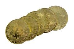 Bitcoin Ο νέος τρόπος του επιχειρησιακού bitcoin νομίσματος είναι πληρωμή στη σφαιρική αγορά εμπορίου στοκ εικόνες