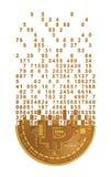 Bitcoin που καταρρέει στα ψηφία απεικόνιση αποθεμάτων