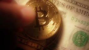 Bitcoin στους ξεπερασμένους λογαριασμούς δολαρίων απόθεμα βίντεο
