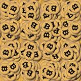 Bitcoin, σωρός των cryptocurrencies Στοκ Φωτογραφίες