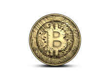 Bitcoin φυσικό Στοκ φωτογραφία με δικαίωμα ελεύθερης χρήσης