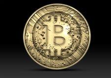 Bitcoin φυσικό Στοκ Φωτογραφίες