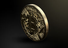 Bitcoin φυσικό Στοκ εικόνες με δικαίωμα ελεύθερης χρήσης