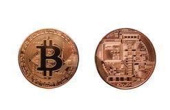 Bitcoin, валюта Cryptocurrency цифров Стоковые Фото