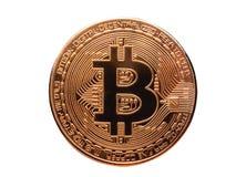 Bitcoin, валюта Cryptocurrency цифров Стоковые Изображения