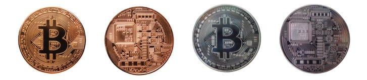 Bitcoin, валюта Cryptocurrency цифров Стоковое Фото