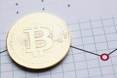 Bitcoin валюты монетки секретное против Стоковые Изображения