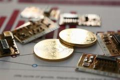 Bitcoin валюты монетки секретное против Стоковое Изображение RF