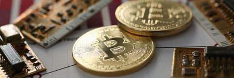 Bitcoin валюты монетки секретное против Стоковая Фотография RF