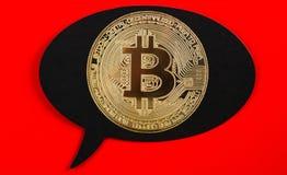 Bitcoin в пузыре Стоковые Фото
