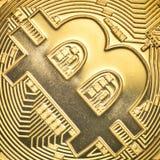 Bitcoin золота Стоковые Фото