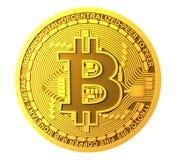 Bitcoin изолировало на белой предпосылке Стоковое Фото