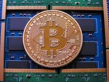 Bitcoin и оперативная память Стоковая Фотография RF