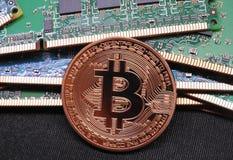 Bitcoin и оперативная память Стоковое Изображение