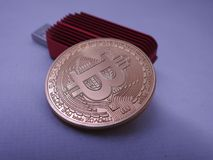Bitcoin и asic стоковое изображение