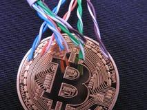 Bitcoin и UTP стоковое изображение
