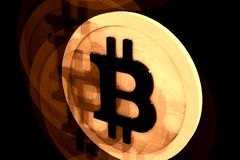 Bitcoin, концепция монетки Ghosty Стоковое фото RF