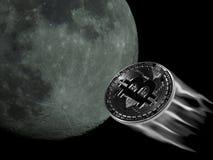 Bitcoin к луне Стоковые Фото