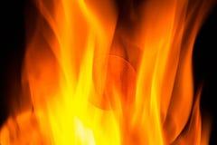Bitcoin монетки на огне стоковая фотография rf