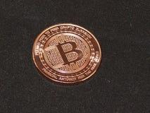 Bitcoin, секретные монетки, виртуальная валюта Стоковые Фотографии RF