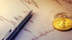 Bitcoin, секретные cours валюты Стоковое Фото