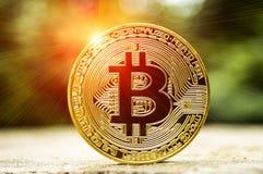 Bitcoin современный путь обмена и этой секретной валюты Стоковые Фото