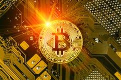 Bitcoin современный путь обмена и этой секретной валюты Стоковое Изображение RF