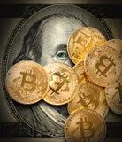 Bitcoin тайнопись минирования стоковые фотографии rf