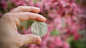 Bitcoin - цифровая валюта стоковые фотографии rf