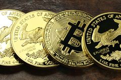 Bitcoin Στοκ Φωτογραφίες