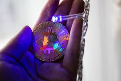 Bitcoin Royalty-vrije Stock Afbeeldingen