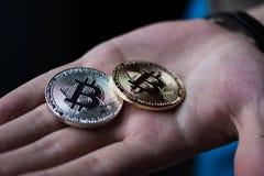 Bitcoin Royalty-vrije Stock Foto's