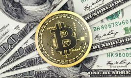 Bitcoin Imagem de Stock Royalty Free