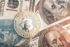 Bitcoin royalty-vrije stock afbeelding