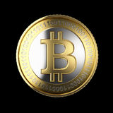 金黄Bitcoin数字式货币 库存图片