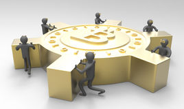 Bitcoin Imagens de Stock Royalty Free