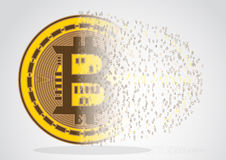 Bitcoin abstract sign Royalty Free Stock Images