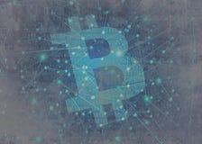 Bitcoin abstrakt begreppbegrepp Fotografering för Bildbyråer