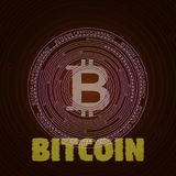 Bitcoin abstrato do pulso aleatório Foto de Stock